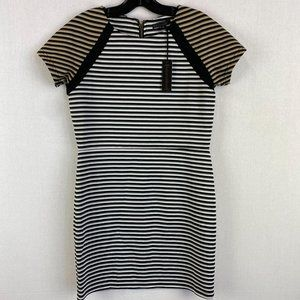 LUCCA COUTURE High Neck Stripe Dress NWT